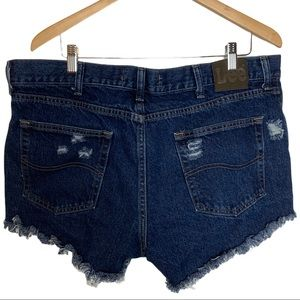 Lee's Upcycled Distressed Cut Off Shorts W38